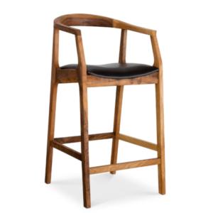 Дизайнерский барный стул №4 из массива