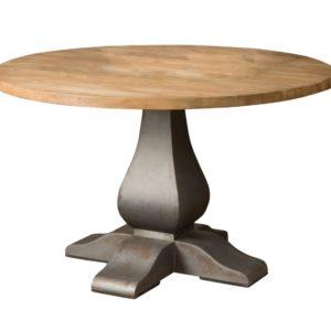 Круглый обеденный стол из массива №1-ВТ